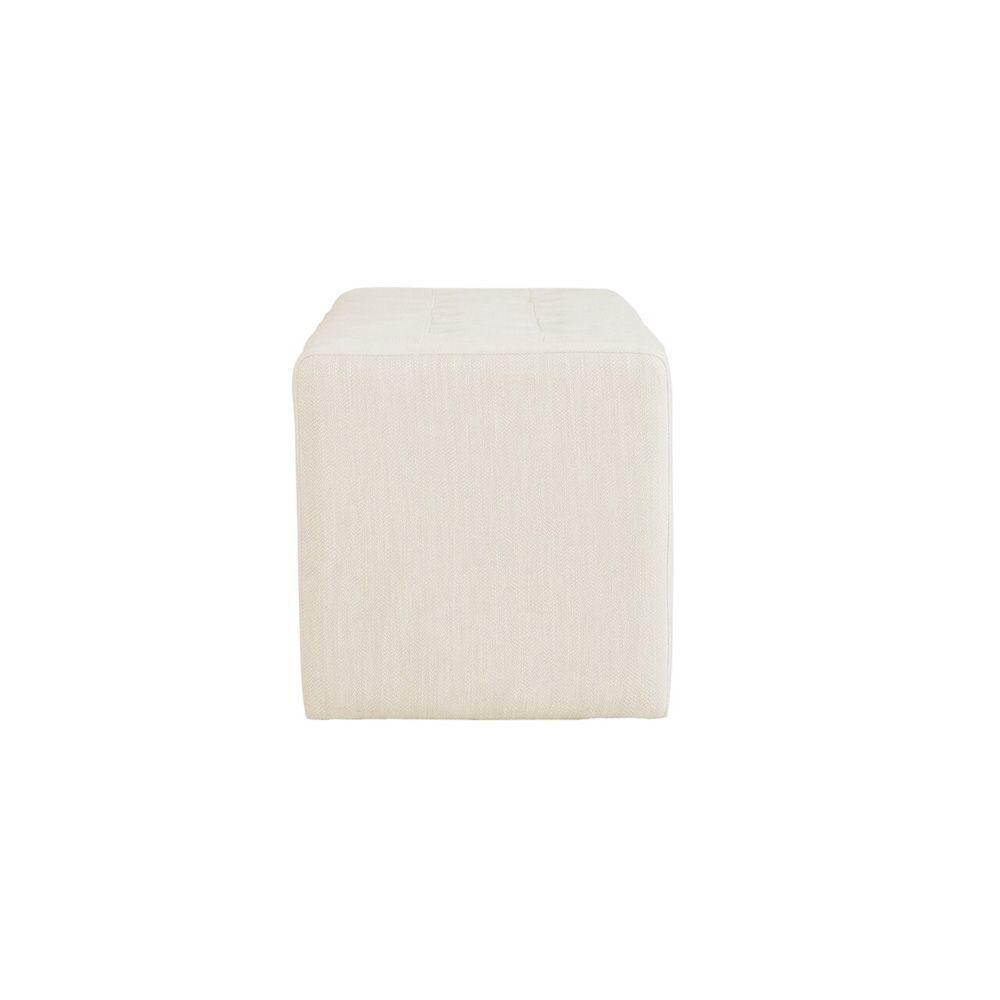 Liliana Storage Bench - Cream - Side