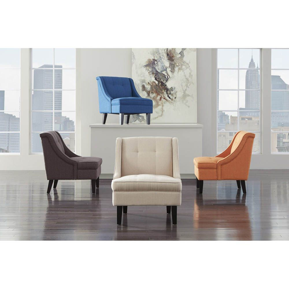 Claretta Accent Chair - Gray - Lifestyle - Each Chair Sold Separately