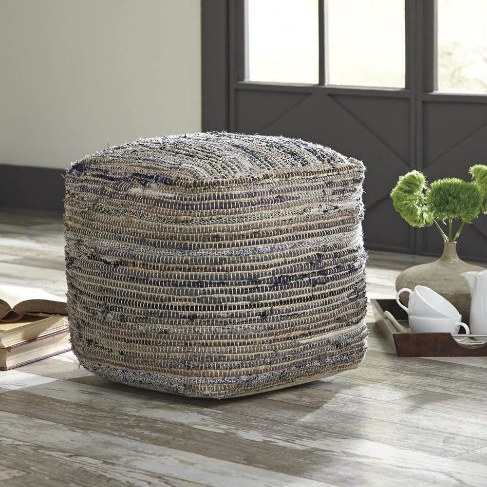 Axelle Pouf - Natural - Lifestyle