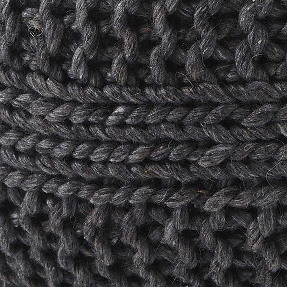 Bettina Pouf - Charcoal - Fabric