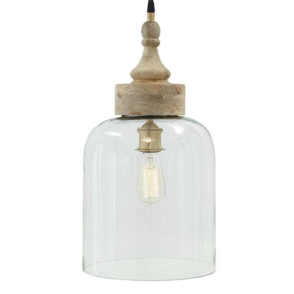 Faizah Glass Pendant Light - Transparent