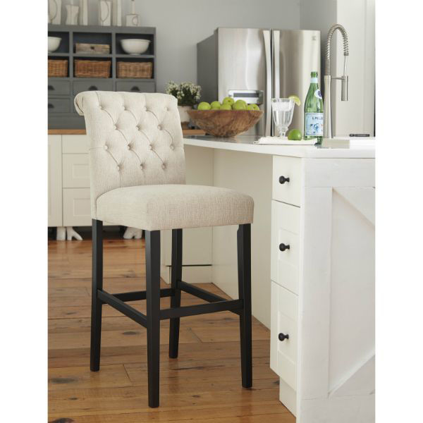 "Picture of Tripton 30"" Stool  Linen"