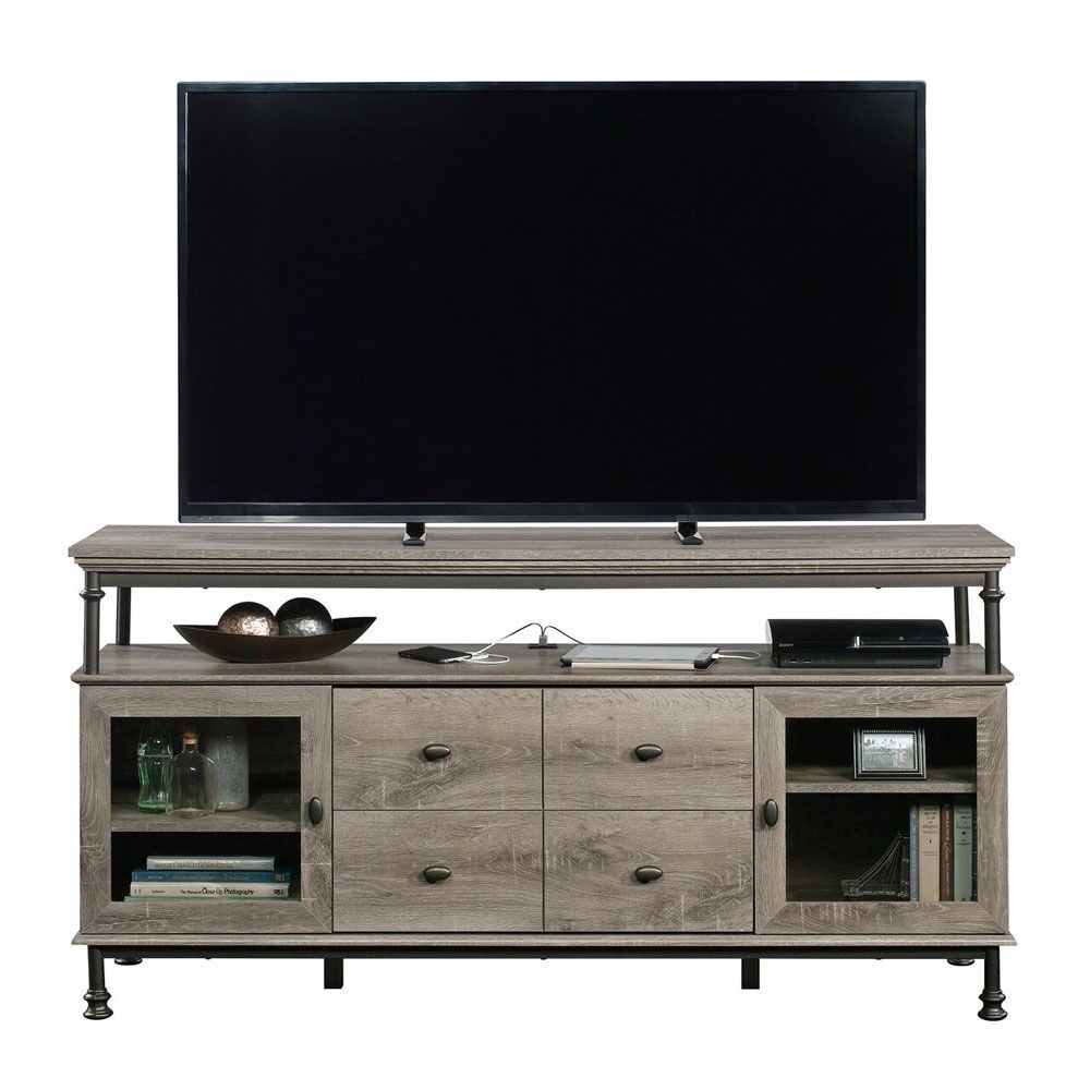 Canal Street Entertainment Credenza - Northern Oak - TV Not Included