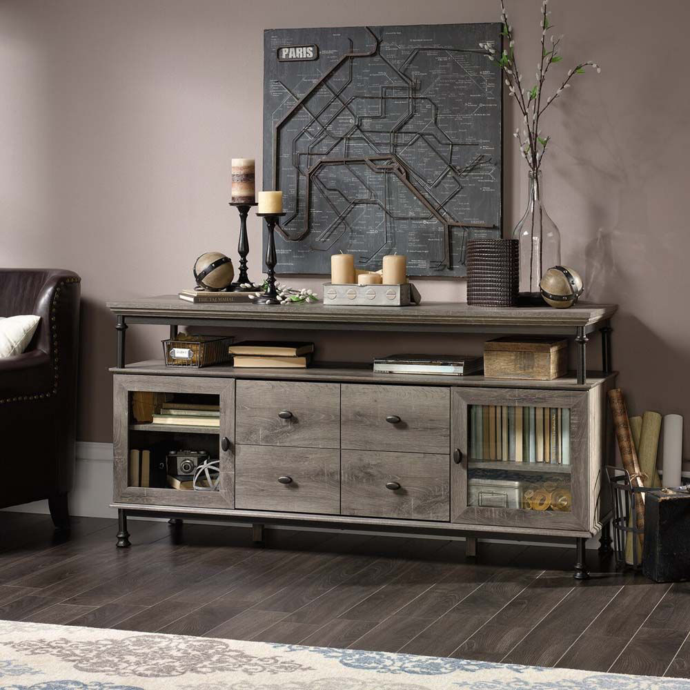 Canal Street Entertainment Credenza - Northern Oak - Lifestyle