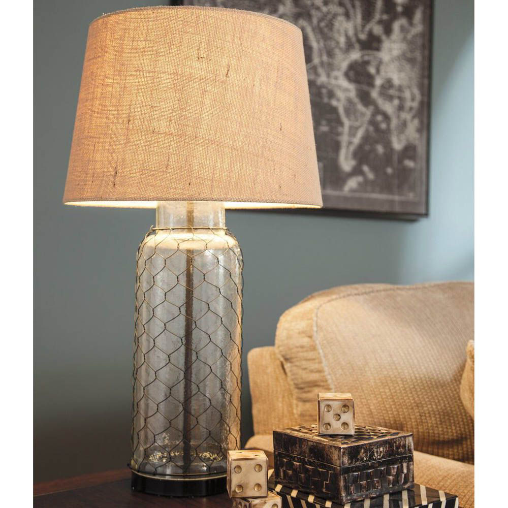 Shantell Glass Table Lamp - Lifestyle