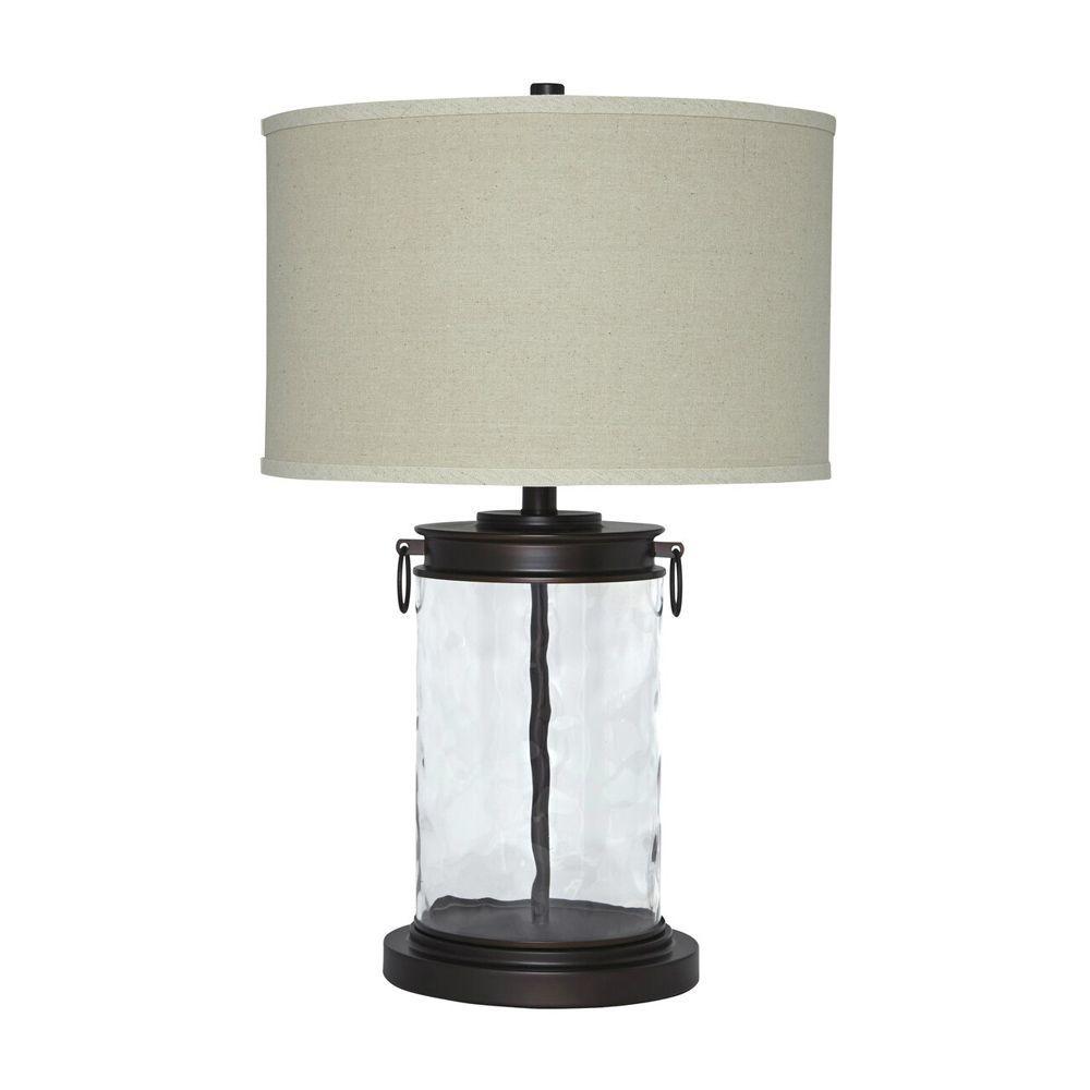Temira Glass Table Lamp - Bronze