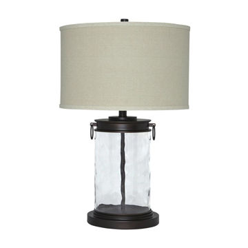 Temira Glass Table Lamp - Bronze