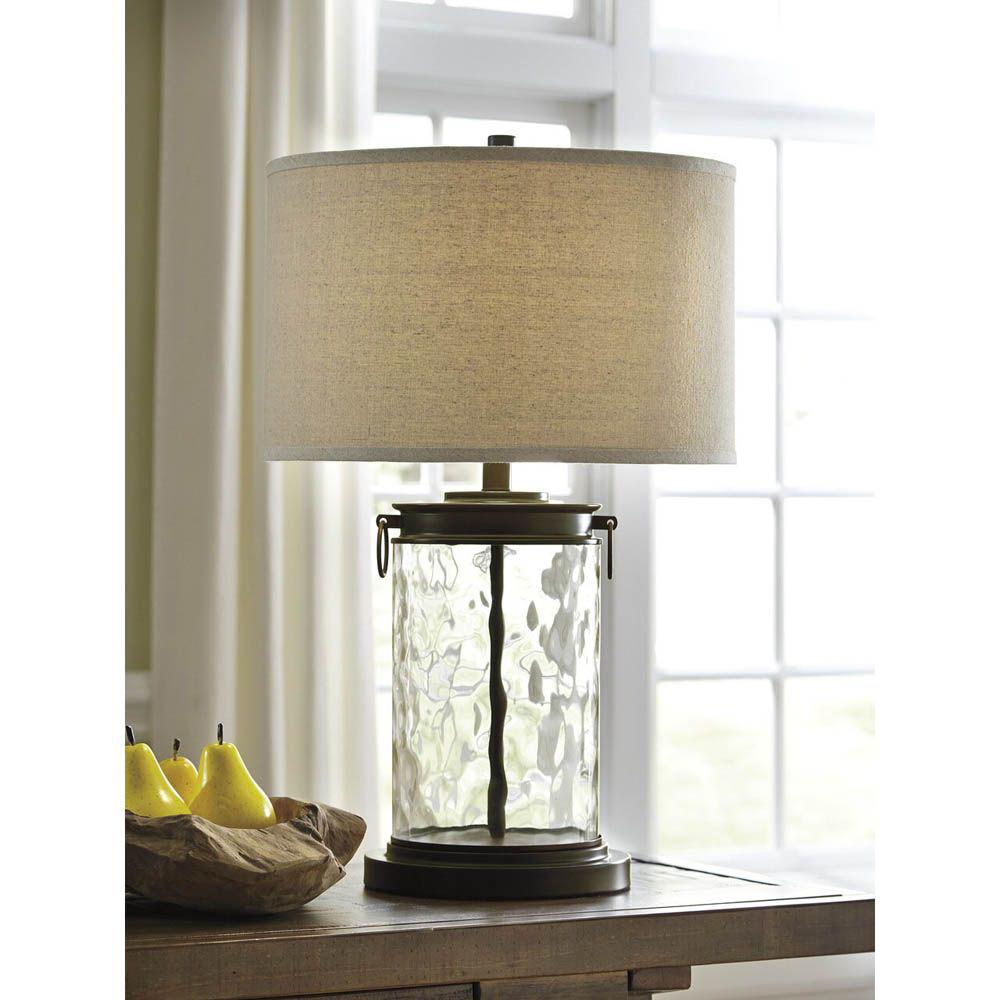 Temira Glass Table Lamp - Bronze - Lifestyle