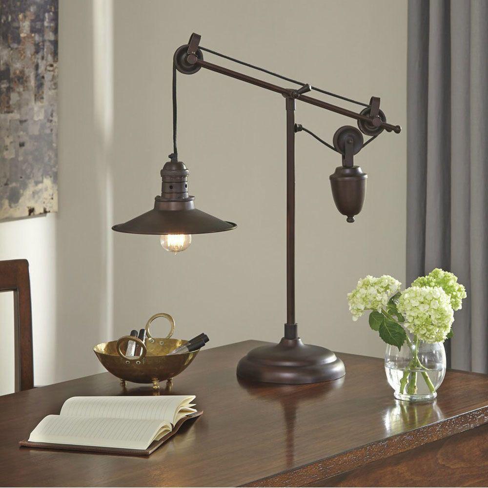 Taura Metal Desk Lamp - Bronze - Lifestyle