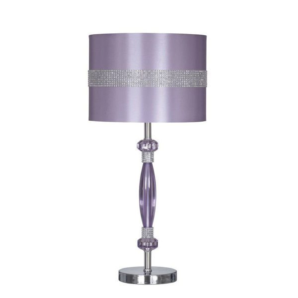 Anyssa Metal Table Lamp - Purple