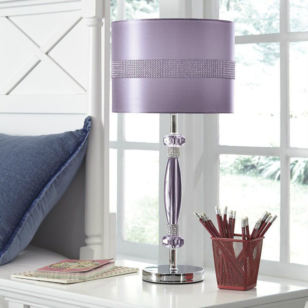 Anyssa Metal Table Lamp - Purple - Lifestyle