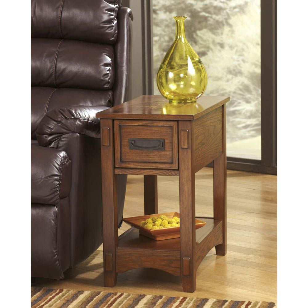 Brune Chairside End Table - Brown - Lifestyle