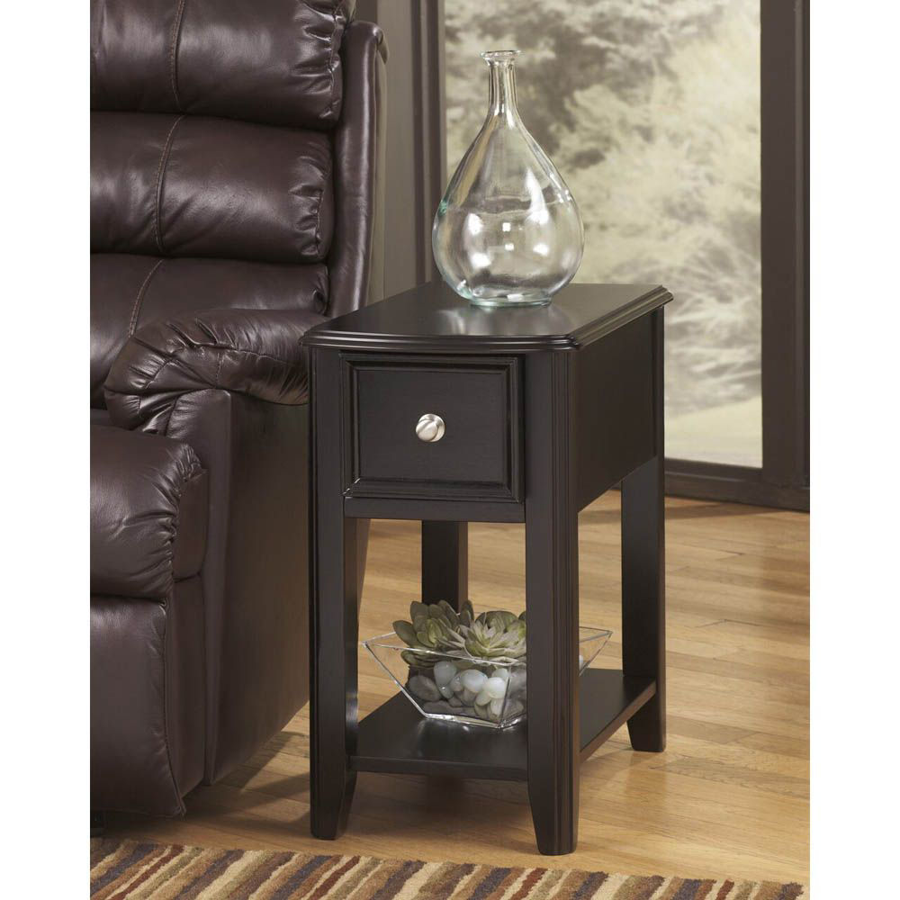 Brune Chairside End Table - Black - Lifestyle