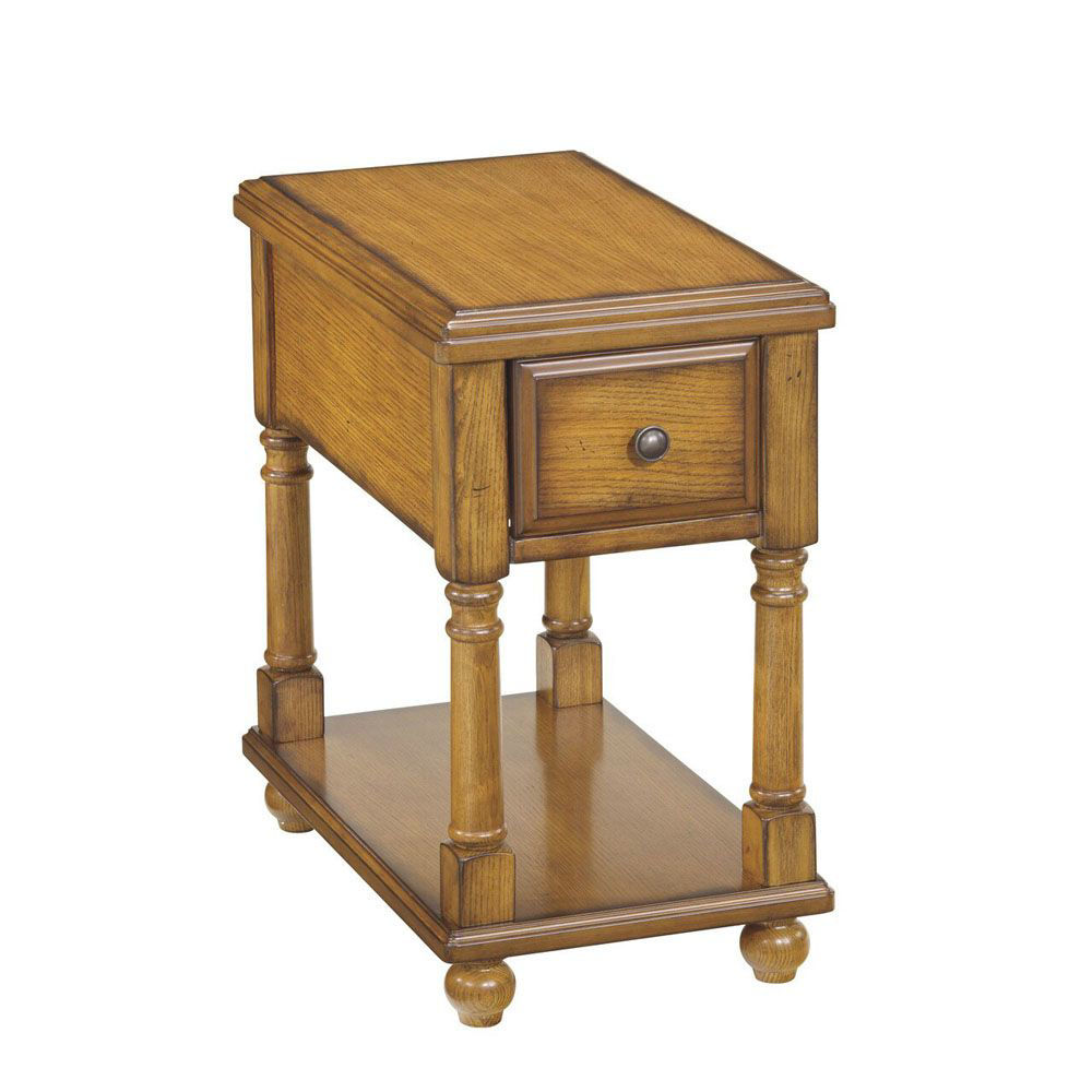 Brune Chairside End Table - Light Brown
