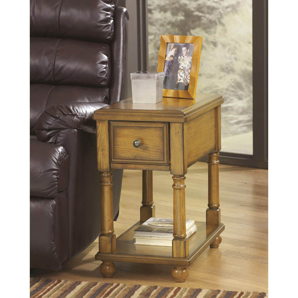 Brune Chairside End Table - Light Brown - Lifestyle