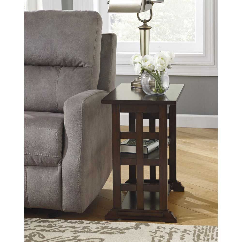 Beaubois Chairside End Table - Brown - Lifestyle