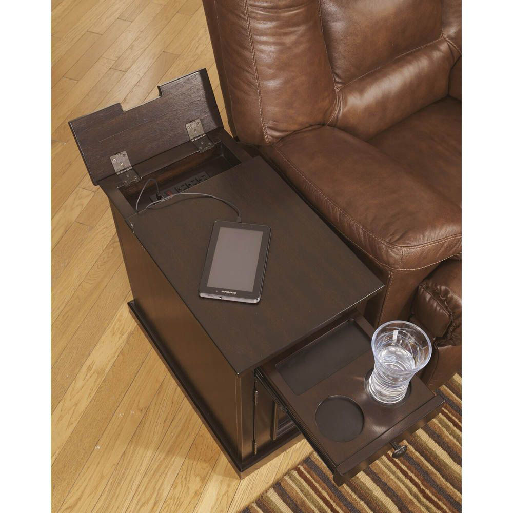 Guilder Chairside End Table - Sable - Open