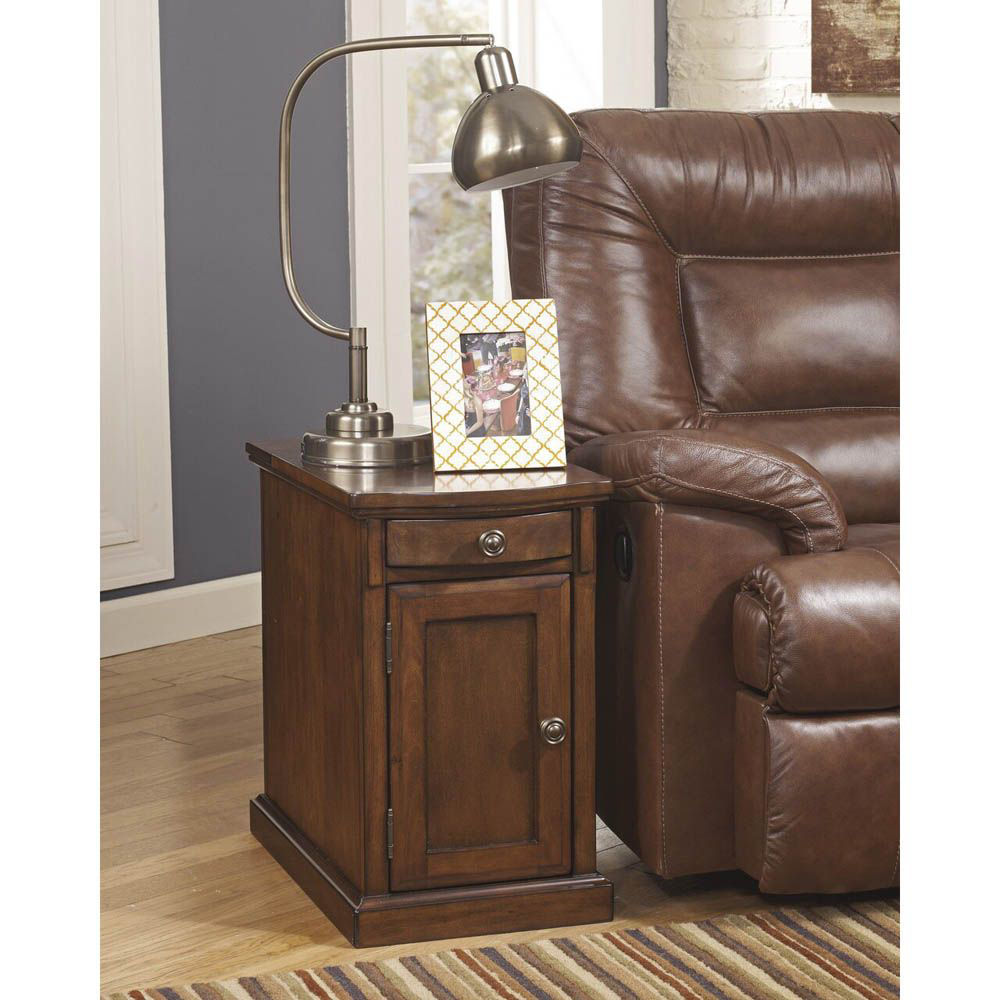 Guilder Chairside End Table - Medium Brown - Lifestyle