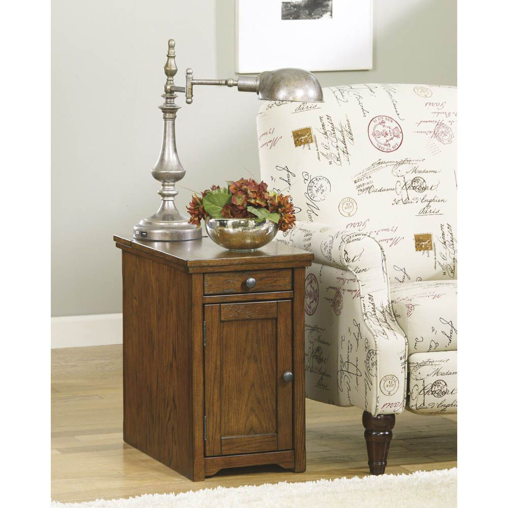 Guilder Chairside End Table - Brown - Lifestyle
