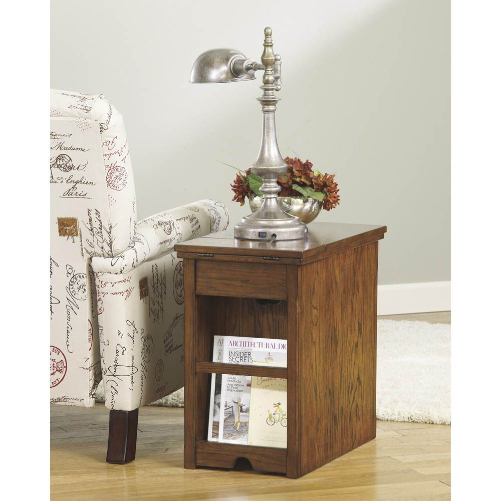 Guilder Chairside End Table - Brown - Back