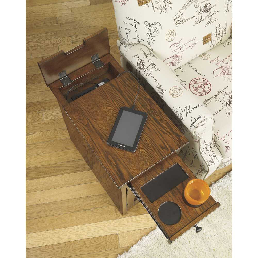 Guilder Chairside End Table - Brown - Open