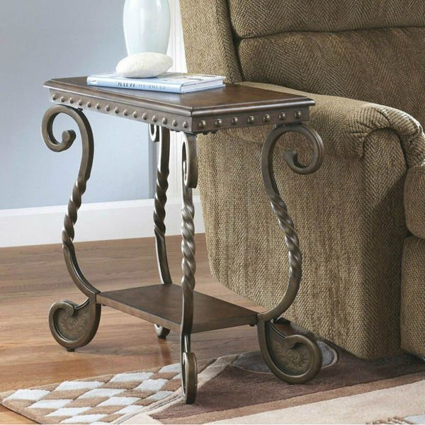 Avere Chairside End Table - Dark Brown