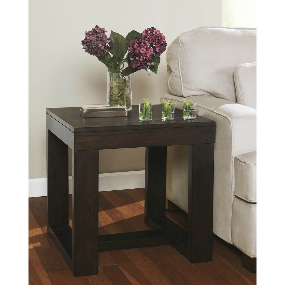 Picture of Valtteri Square End Table - Brown