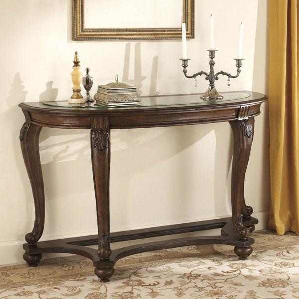 Filigree Sofa Table - Dark Brown