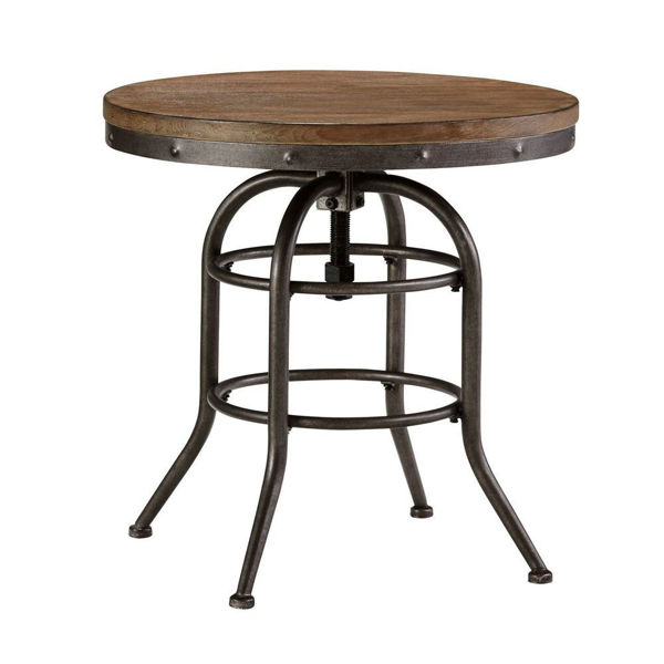Bisque Round End Table