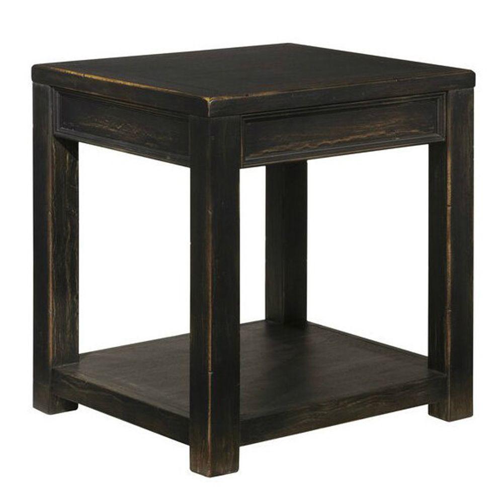 Gavrila Square End Table - Black