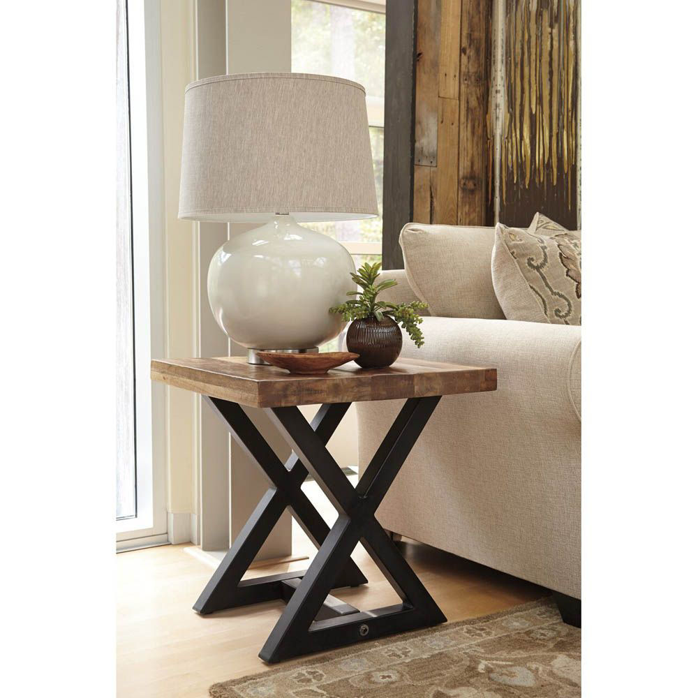Weston Square End Table - Light Brown - Lifestyle