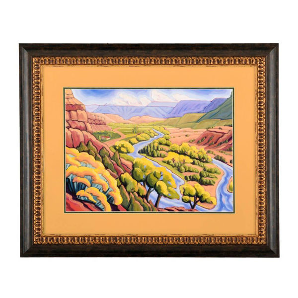 Chama River Towards Abq by Elisabeth (Betsy) Porter