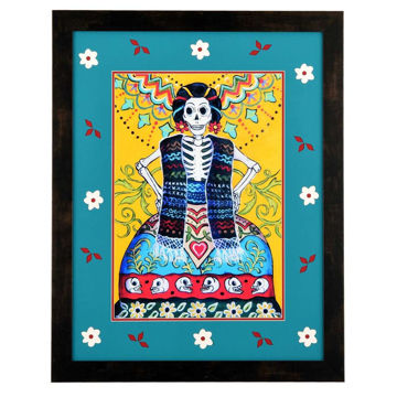 Folk Art Calavera by Candy Mayer