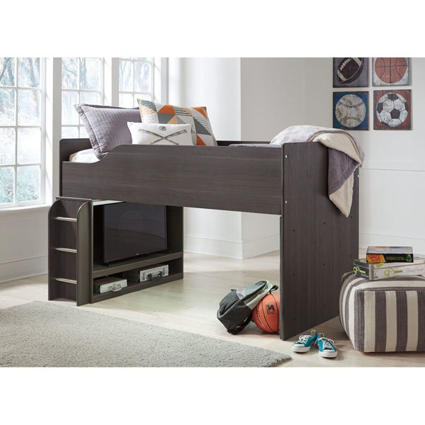 Picture of Lewis Mid-Loft LED Bunk Bed