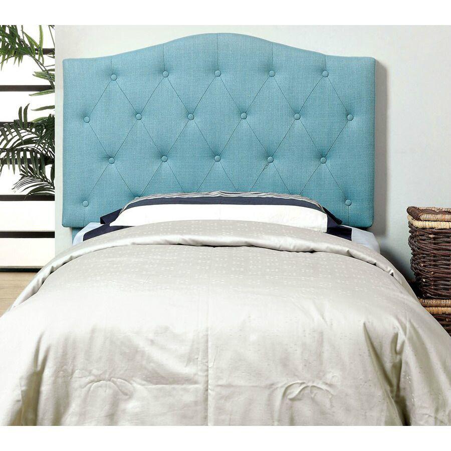 Alipaz Blue Upholstered Headboard - Front