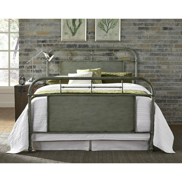 Picture of VINTAGE METAL BED - GREEN
