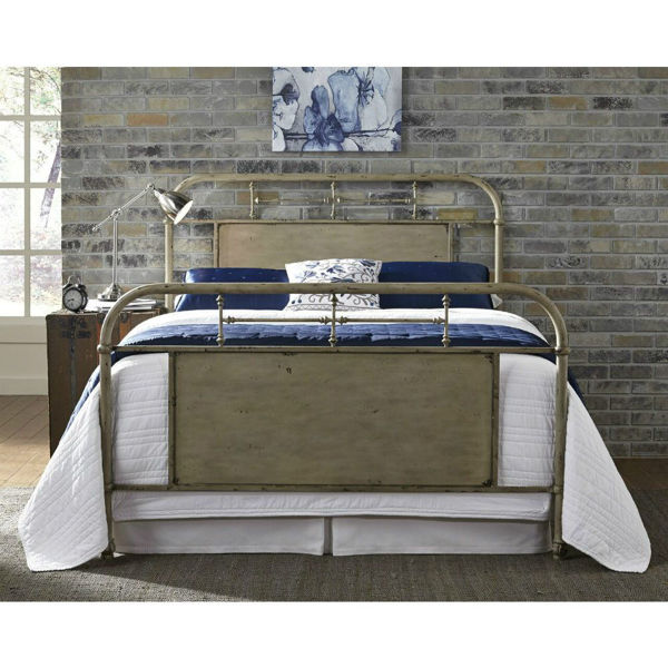 Picture of Vintage Metal Bed - Cream