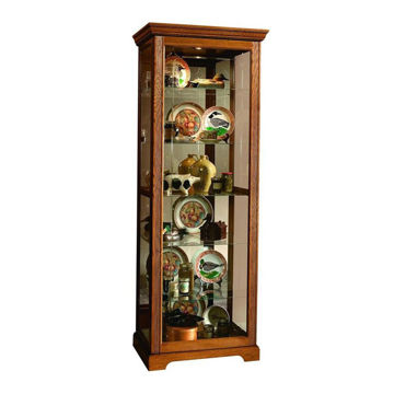 Henry Golden Oak Brown Curio Cabinet