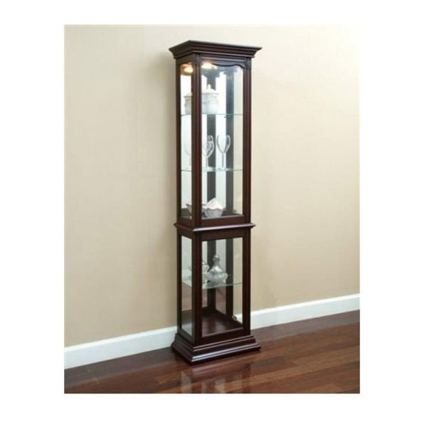 Picture of Hagen Warm Cherry Curio Cabinet