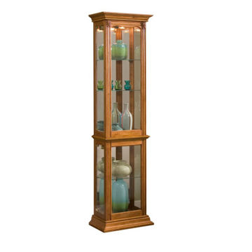 Tigris Golden Oak Brown Curio Cabinet