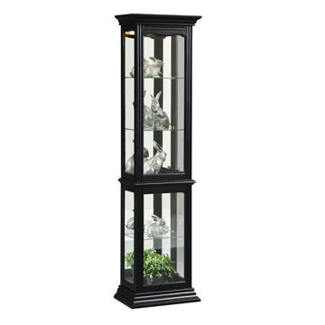 Rufus Black Curio Cabinet