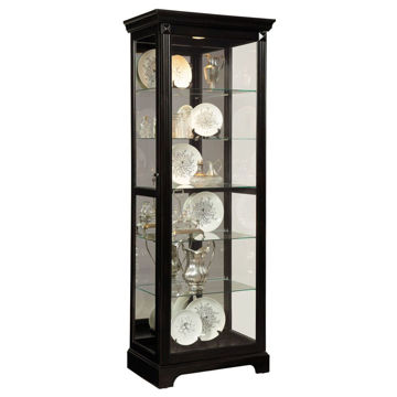 Elisha Cherry Brown Curio Display Cabinet