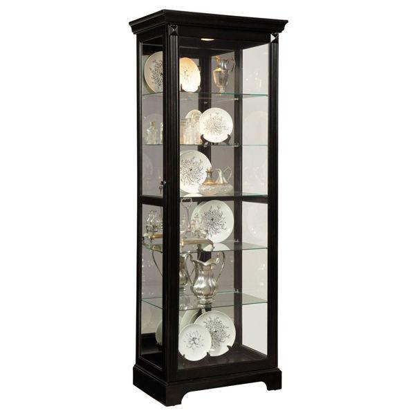 Elisha Cherry Brown Curio Display Cabinet