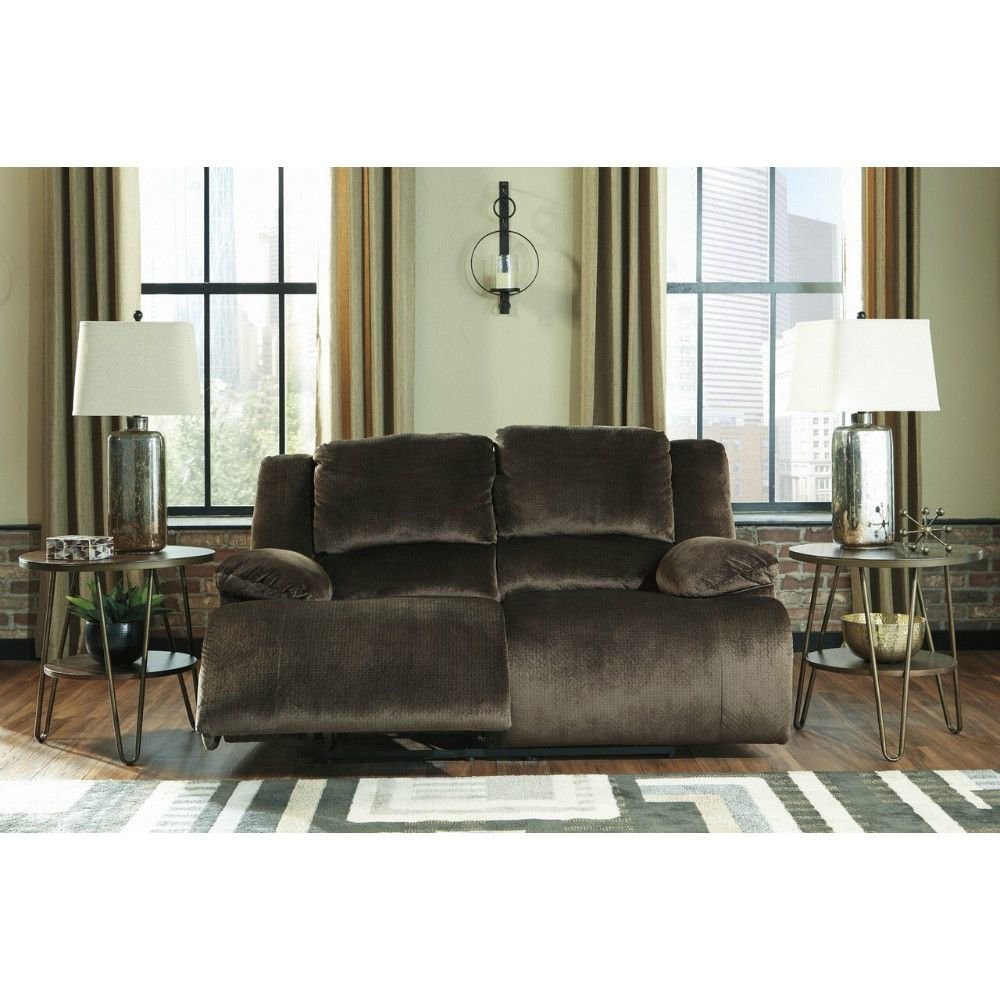 Cibola Reclining Loveseat - Chocolate - Front - Lifestyle
