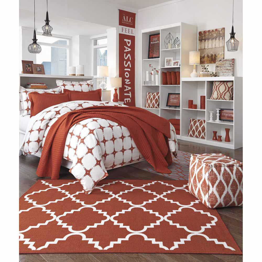 Rosina Coverlet Set - Orange - Lifestyle