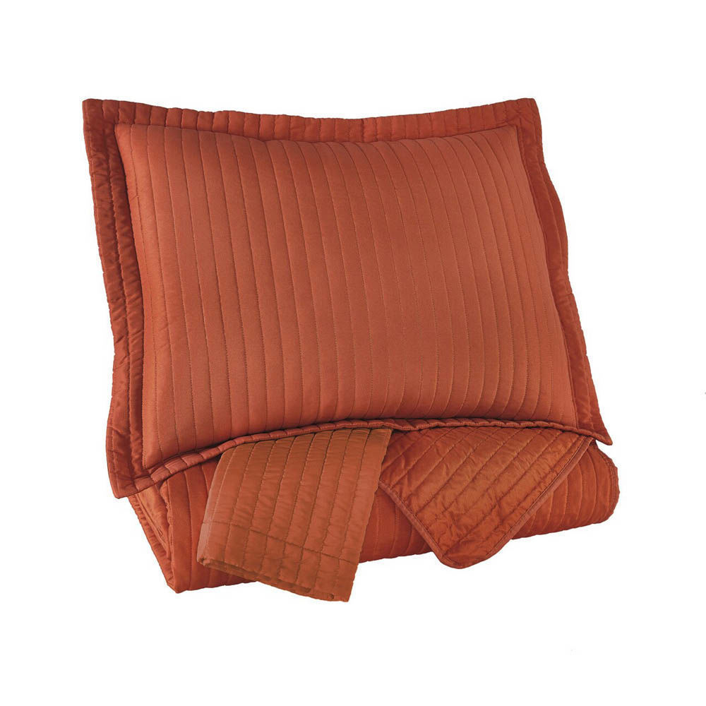 Rosina Coverlet Set - Orange - Shams