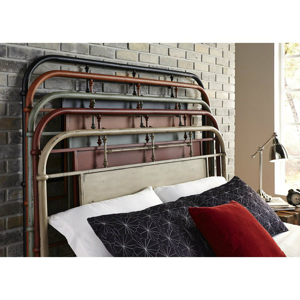 Picture of Vintage Metal Bed - Red