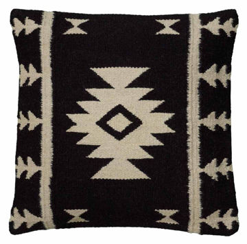 Black and Tan Southwest Pillow