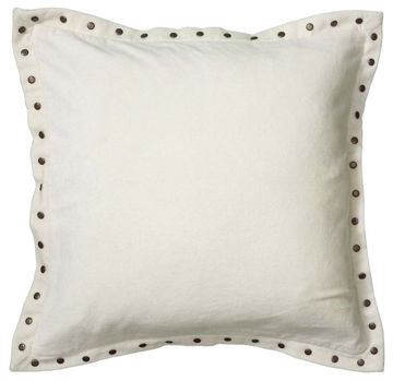 White Studded Velvet Pillow