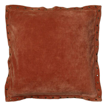 Valdez Velvet Pillow - Burnt Orange